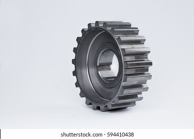 one gear on white background