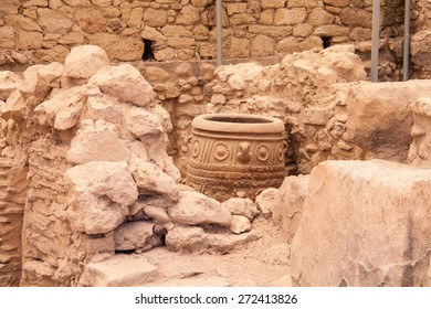 One of giant pithoses from Knossos, Crete, Greece