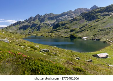 One of the Giglachseen lakes in Styria, Austria, Europe, im summer
