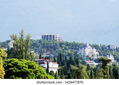 one of the green corners of the Crimean resort Yalta