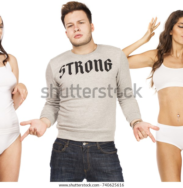 Muscl guy around sexy girls holding them Muscular Man Holding Woman Images Stock Photos Vectors Shutterstock