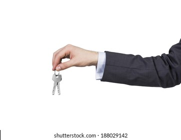 One hand and a key.