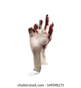 One hand of a vampire rises