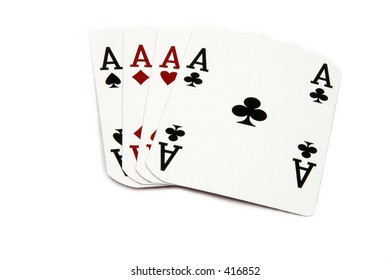 One of the highest hands in poker for Aces  Card are retired casino cards and the corners have been physically clipped