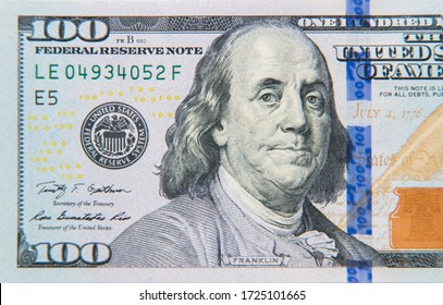 One hundred dollars banknotes background - Shutterstock ID 1725101665