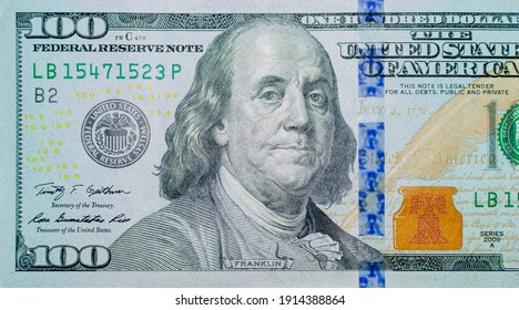 One hundred dollars banknotes background