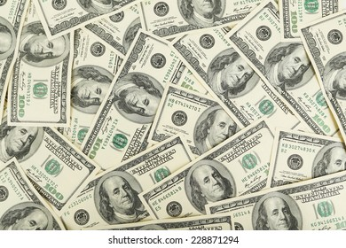 One hundred dollars bill background