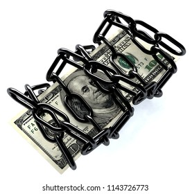 One hundred dollars in a chain