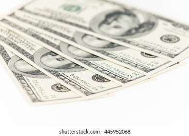 One hundred and fifty dollars banknotes as background