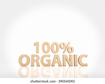 one hundred percent organic text on white background
