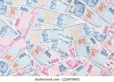 One Hundred and Two Hundred Lira Background