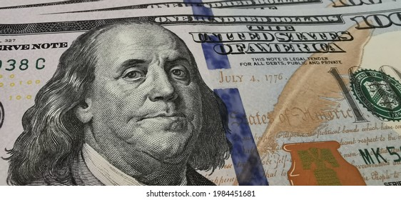 one hundred United statues of america dolar close up