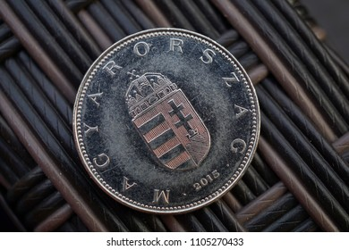 One Hungarian silver coin (Forint, HUF)