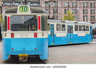 One of the iconic trams of Gothenburg in Sweden.