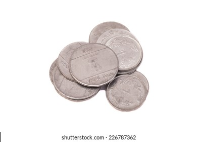 one Indian Rupee coins