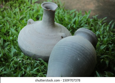 one kind of Thai pottery that made from clay and engrave by hand.
