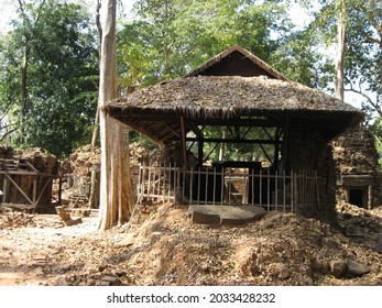One of the Koh Ker archaeological site, Cambodia. - Shutterstock ID 2033428232