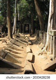 One of the Koh Ker archaeological site, Cambodia. - Shutterstock ID 2033428238