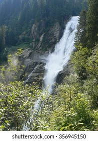 One of Krimml Waterfalls in Austrian Alps. Summertime.