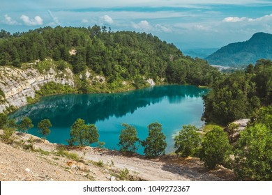 One of the lakes located in Sawahlunto named Danau Biru - West Sumatra