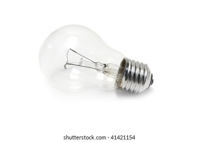 One Lamp on the isolated white background