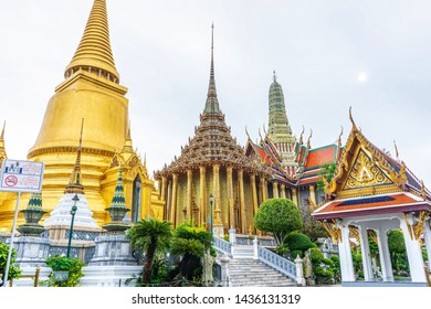 One landmark of Wat Phra Kaew in Bangkok, Thailand. A place everyone in every religion can be viewed.