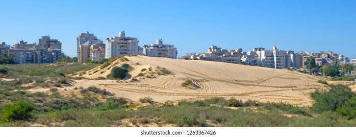 One of the last sand dunes in the neighborhood of the city of Holon in Israel.