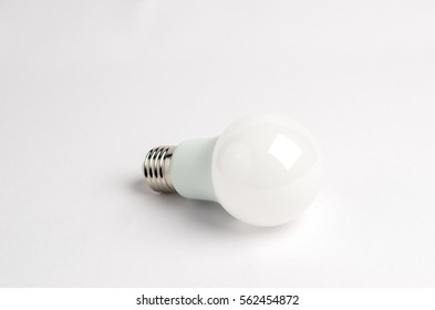 one LED energy saving light bulbs over the old incandescent, use of economical and environmentally friendly light bulb concept