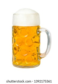 One liter beer mug isolated in front of white background