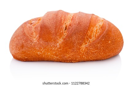 One loaf of bread isolated on white background