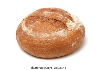 one loaf of newly-baked bread over white