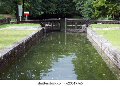 One of the locks of Augustow Canal between Poland and Belarus near Augustow (Poland)