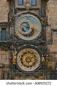 One of the main attractions in Prague the astronomical clock at Old Town Square