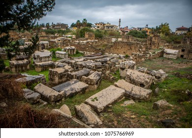 One of the main sights of Tyre is the Necropolis. In the Necropolis it is possible to see the destroyed and plundered burials. In each sarcophagus there is a hole through which values were pulled out.