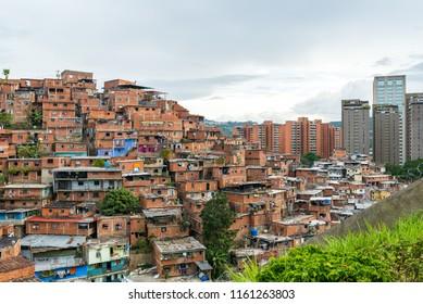 "One of the many ""barrios"" (shanty towns) in Caracas, Venezuela´s capital"