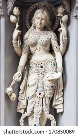 One of the many decorative statues at Sri Krishnan Temple in Singapore.