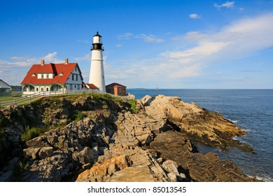One of the many lighthouses in Maine, USA