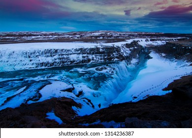 One of the many waterfalls in Iceland