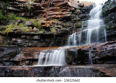 One of the many waterfalls with rock pools in the Kimberley, the last frontier in Western Australia.