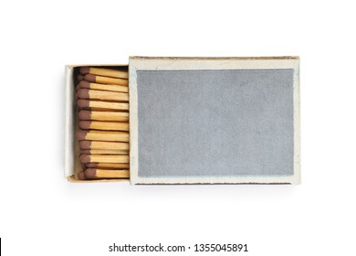 One matchbox isolated on a white background