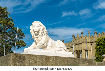 One of the Medici lions at the Vorontsov Palace - Alupka, Crimean Peninsula