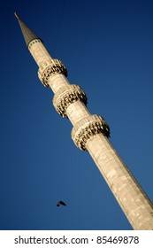 one of the minarets of new mosque