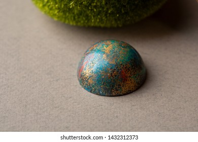 One modern colorful bonbons close-up
