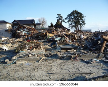 One month after the great east japan earthquake in miyagi ishinomaki