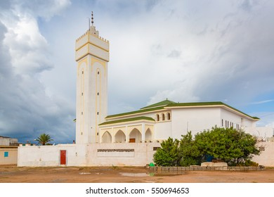 One of the mosques in Sidi Ifni on the coast of Morocco