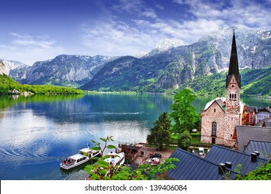 One of the most beautiful lakes and villages of Europe - Hallstatt in Austria