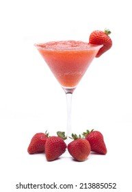 one of the most famous cocktails in the world, frozen strawberry Daiquiri