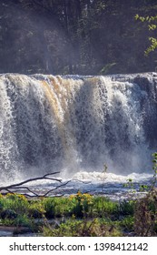 One of the most famous waterfall in Keila Joa in the Northern Estonia. Spring.