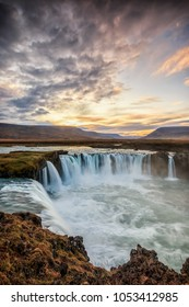 The Goðafoss is one of the most important tourist destinations in the northeast of Iceland