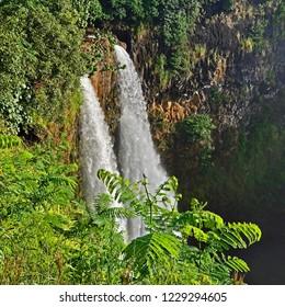 One of the most popular waterfalls on Kauai, Wailua Falls, Hawaii